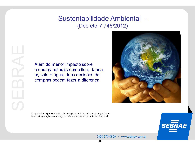 Sustentabilidade Ambiental -
