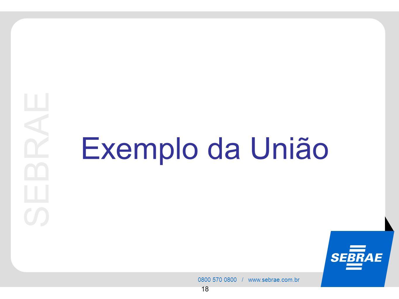Exemplo da União SEBRAE