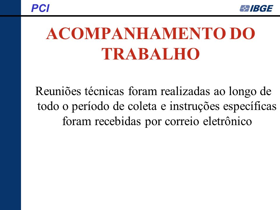 ACOMPANHAMENTO DO TRABALHO