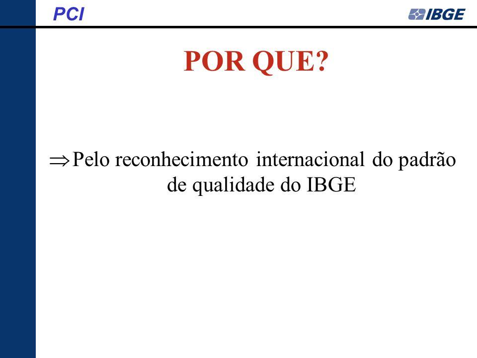 Pelo reconhecimento internacional do padrão de qualidade do IBGE