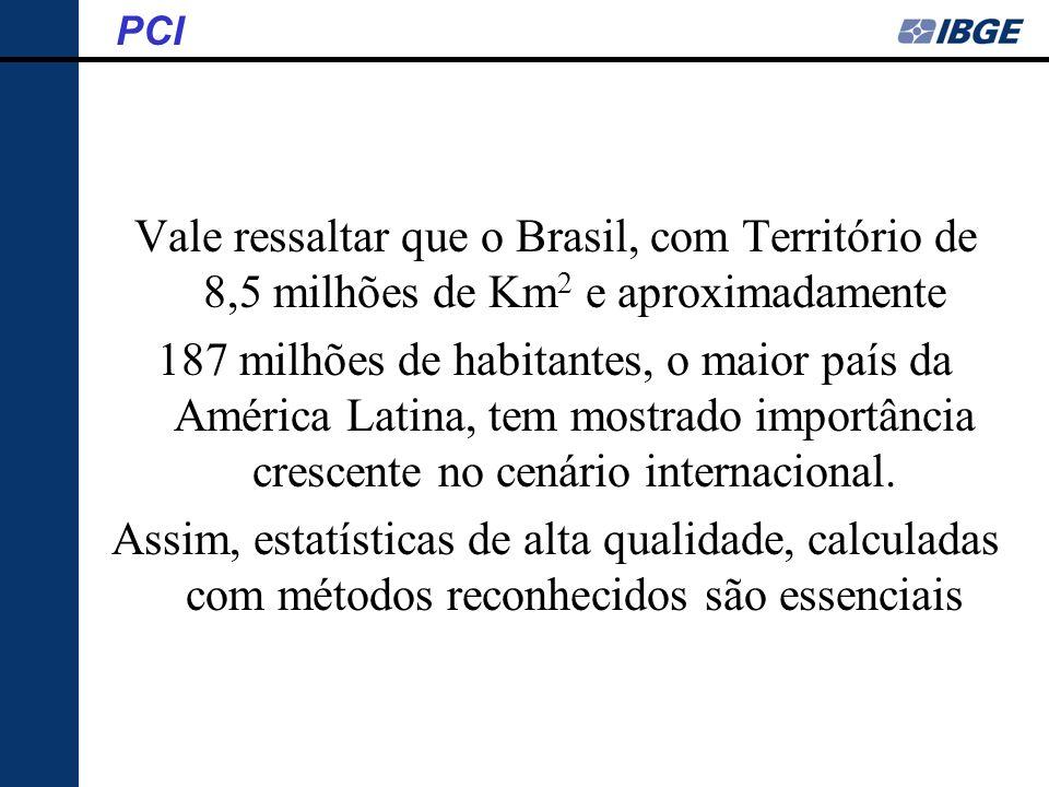 PCI Vale ressaltar que o Brasil, com Território de 8,5 milhões de Km2 e aproximadamente.