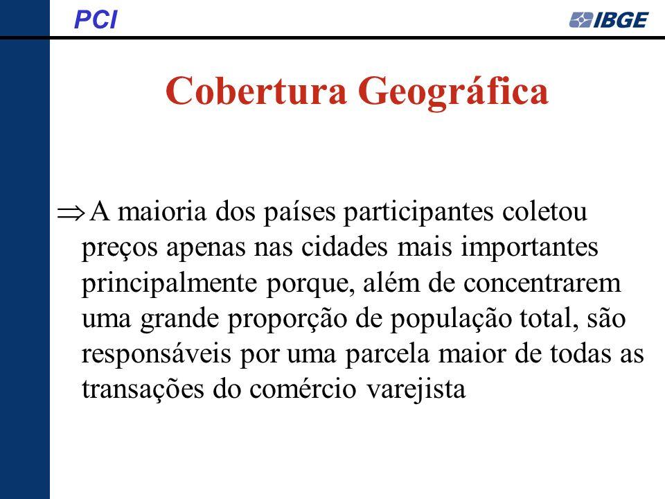 PCI Cobertura Geográfica.