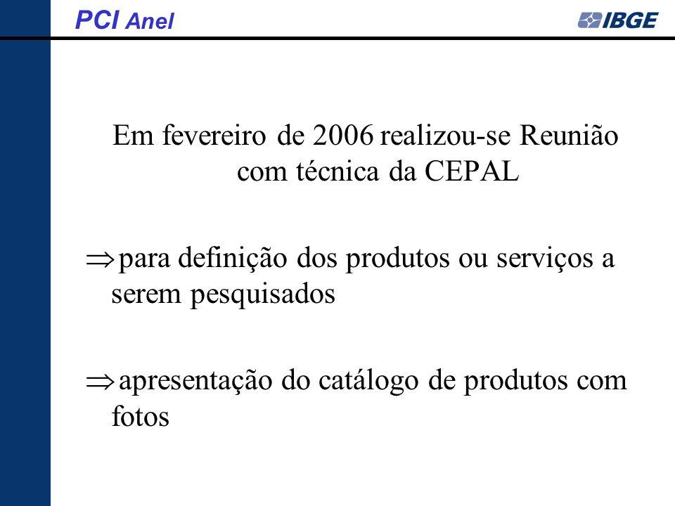 Em fevereiro de 2006 realizou-se Reunião com técnica da CEPAL