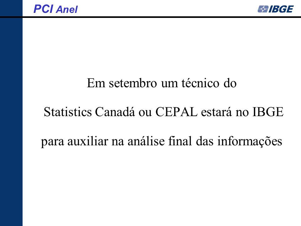 Em setembro um técnico do Statistics Canadá ou CEPAL estará no IBGE