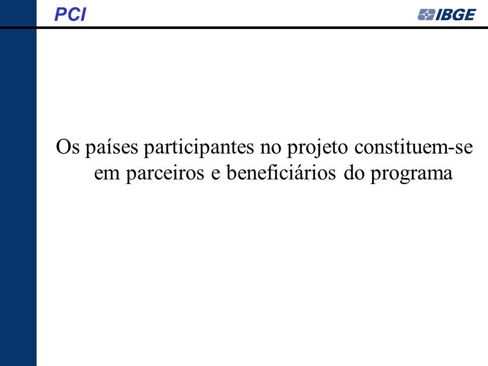 PCI Os países participantes no projeto constituem-se em parceiros e beneficiários do programa