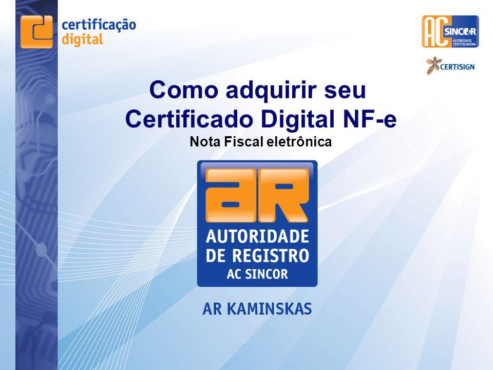 Certificado Digital NF-e Nota Fiscal eletrônica