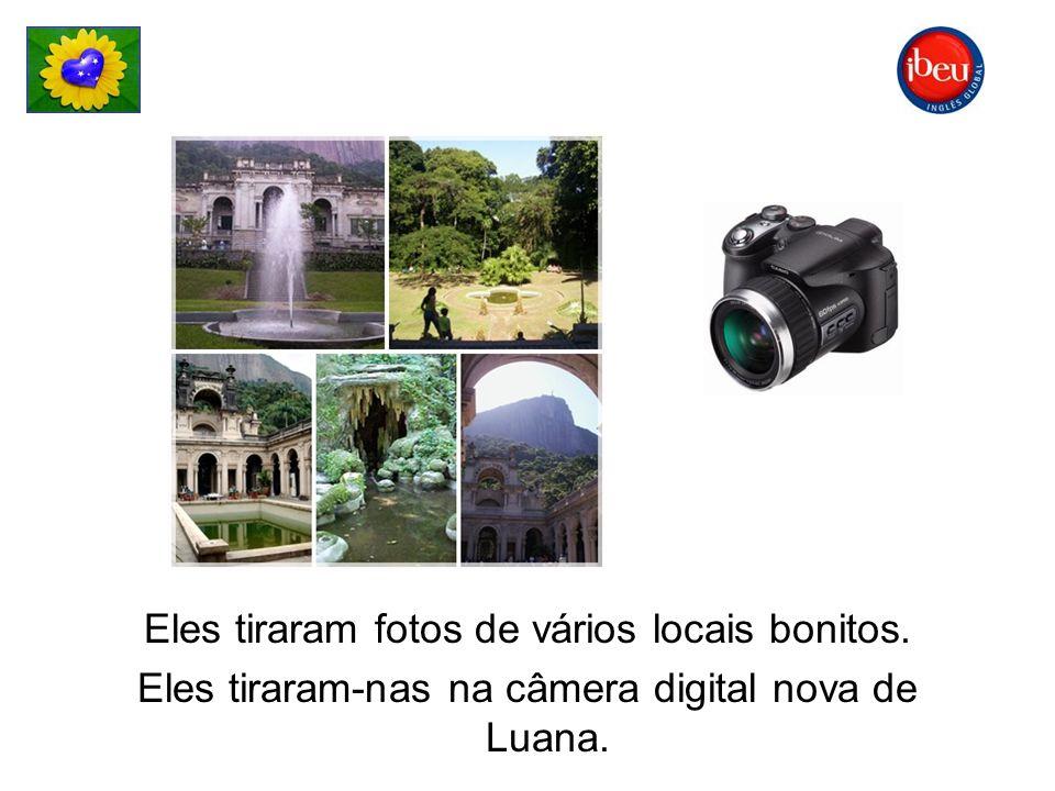 Eles tiraram fotos de vários locais bonitos.