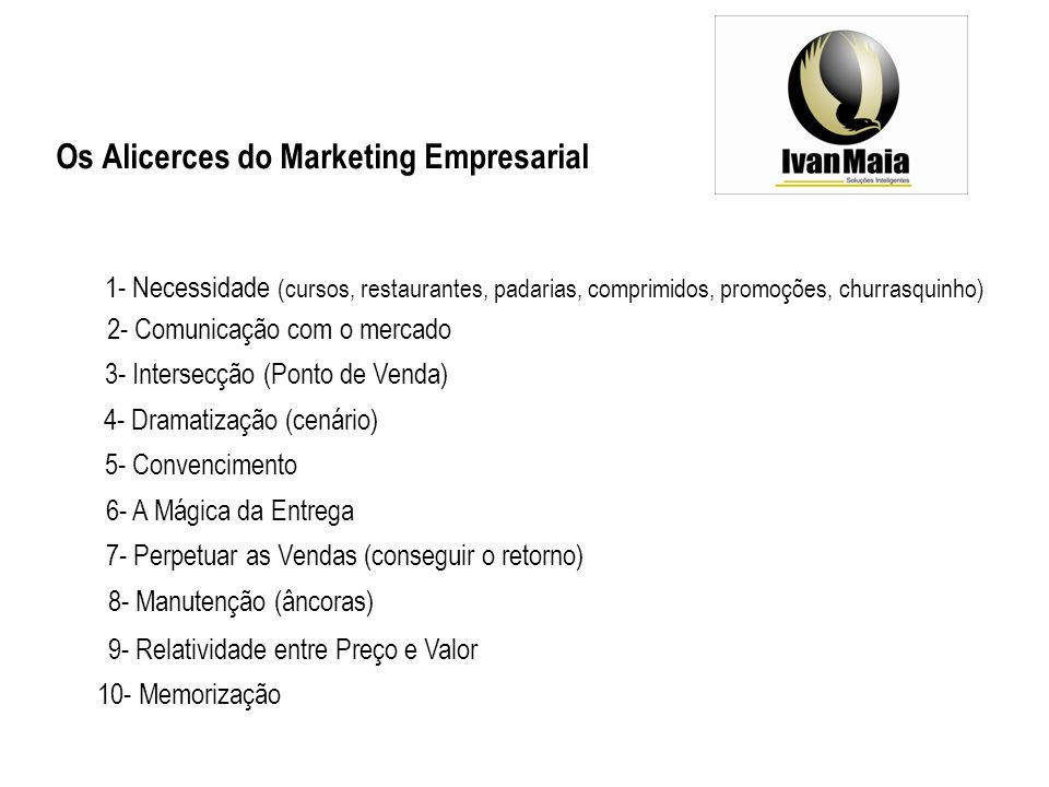 Os Alicerces do Marketing Empresarial