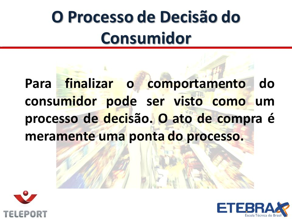 O Processo de Decisão do Consumidor