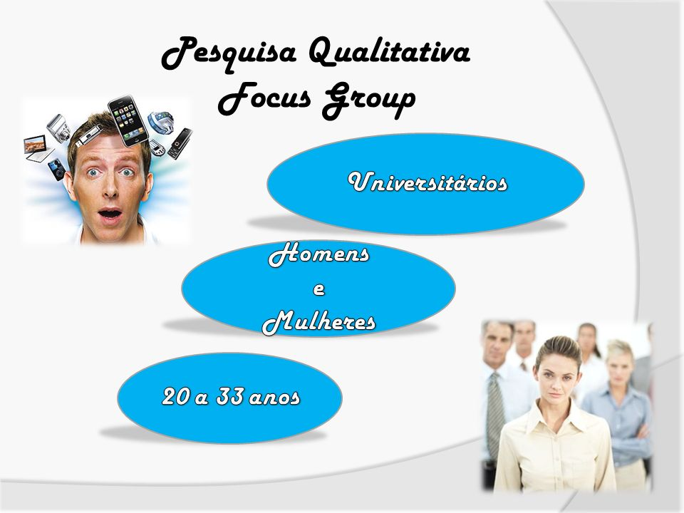 Pesquisa Qualitativa Focus Group Universitários Homens e Mulheres