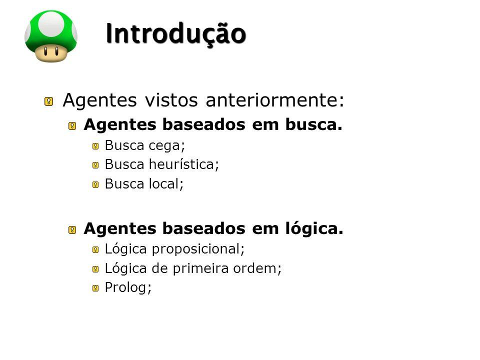 Introdução Agentes vistos anteriormente: Agentes baseados em busca.