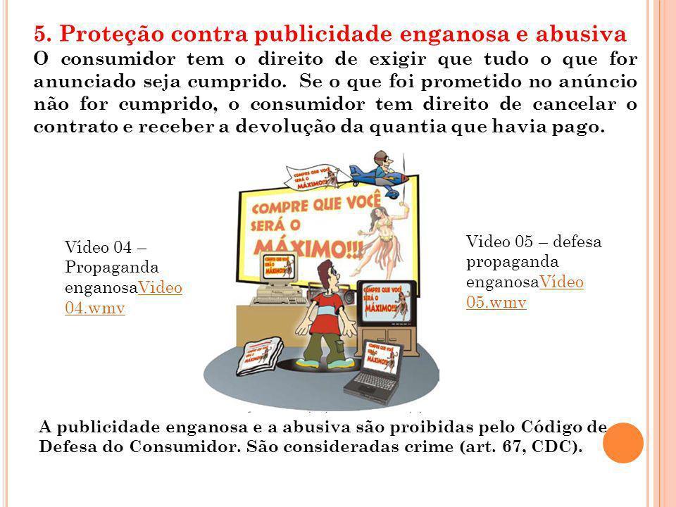 5. Proteção contra publicidade enganosa e abusiva