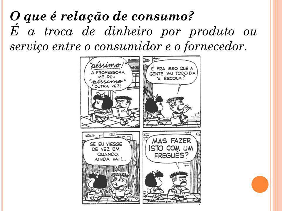 O que é relação de consumo