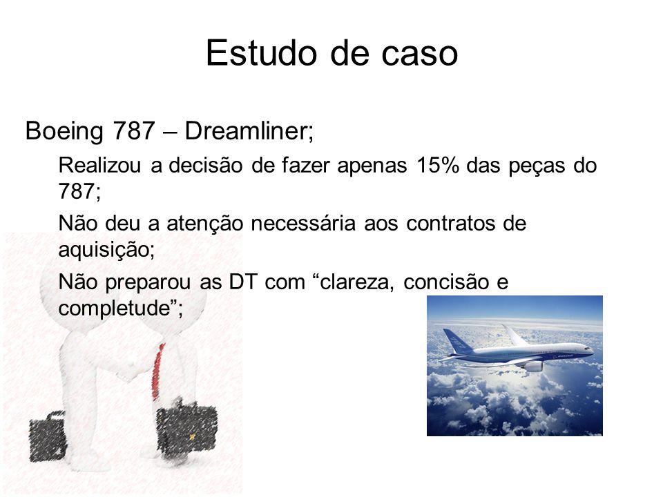 Estudo de caso Boeing 787 – Dreamliner;