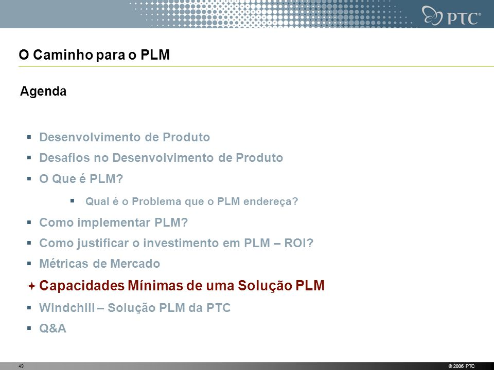 O Caminho para o PLM Agenda Desenvolvimento de Produto