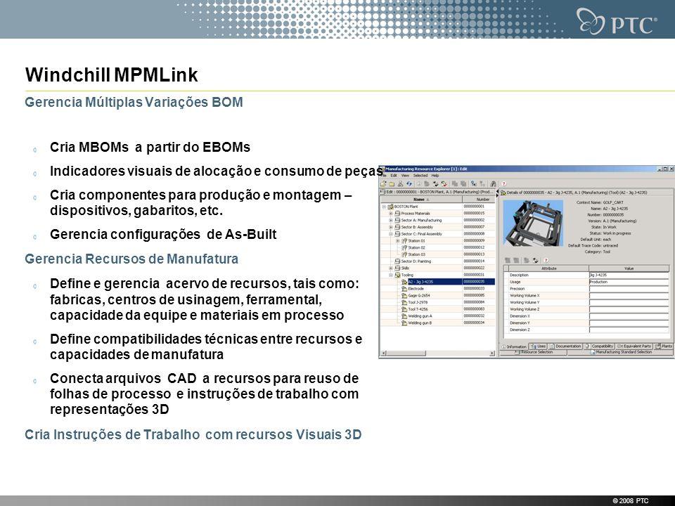 Windchill MPMLink Gerencia Múltiplas Variações BOM