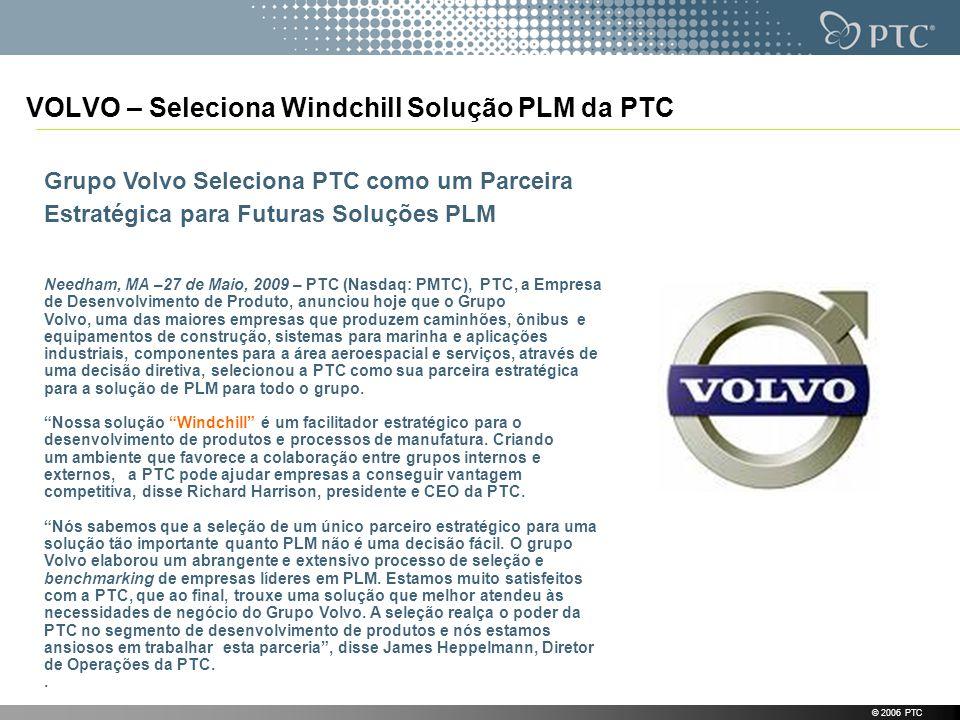 VOLVO – Seleciona Windchill Solução PLM da PTC