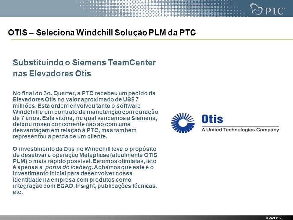 OTIS – Seleciona Windchill Solução PLM da PTC