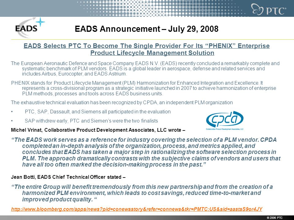EADS Announcement – July 29, 2008