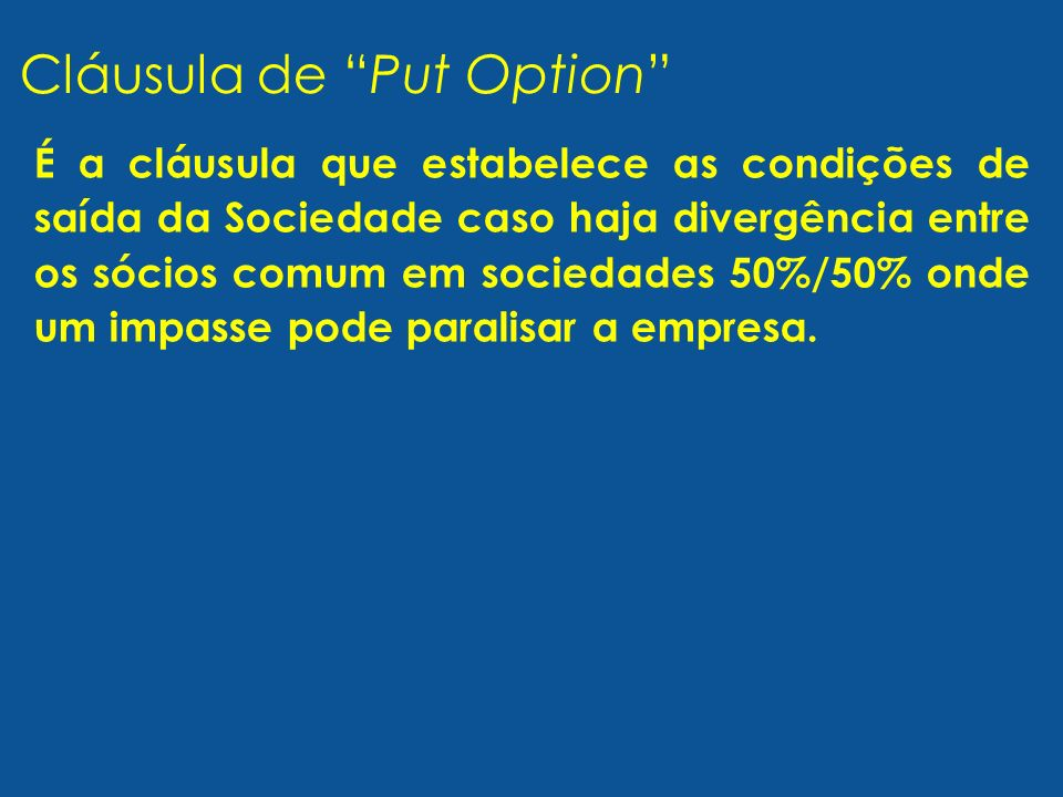 Cláusula de Put Option
