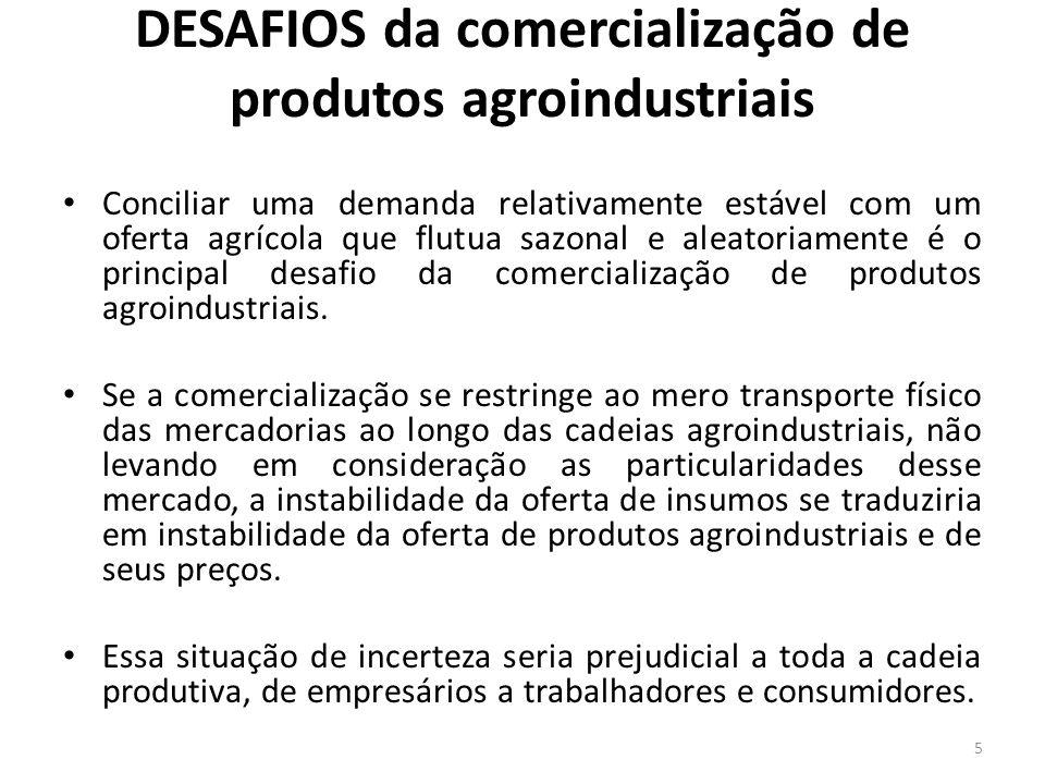 DESAFIOS da comercialização de produtos agroindustriais