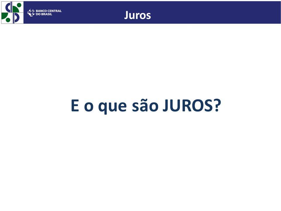 Juros E o que são JUROS
