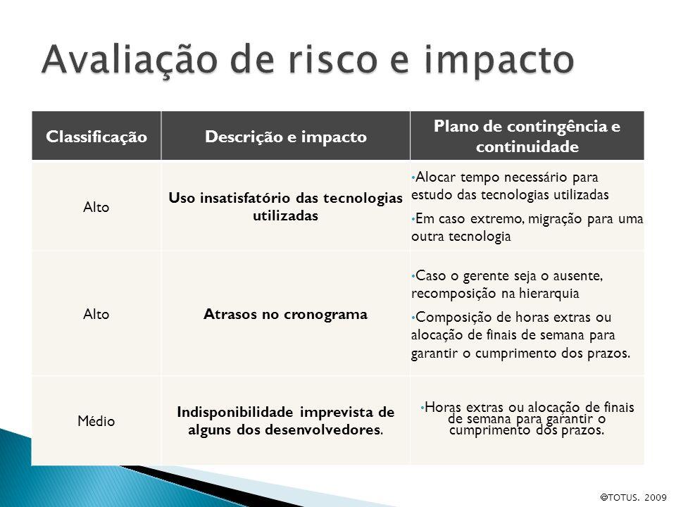 Avaliação de risco e impacto