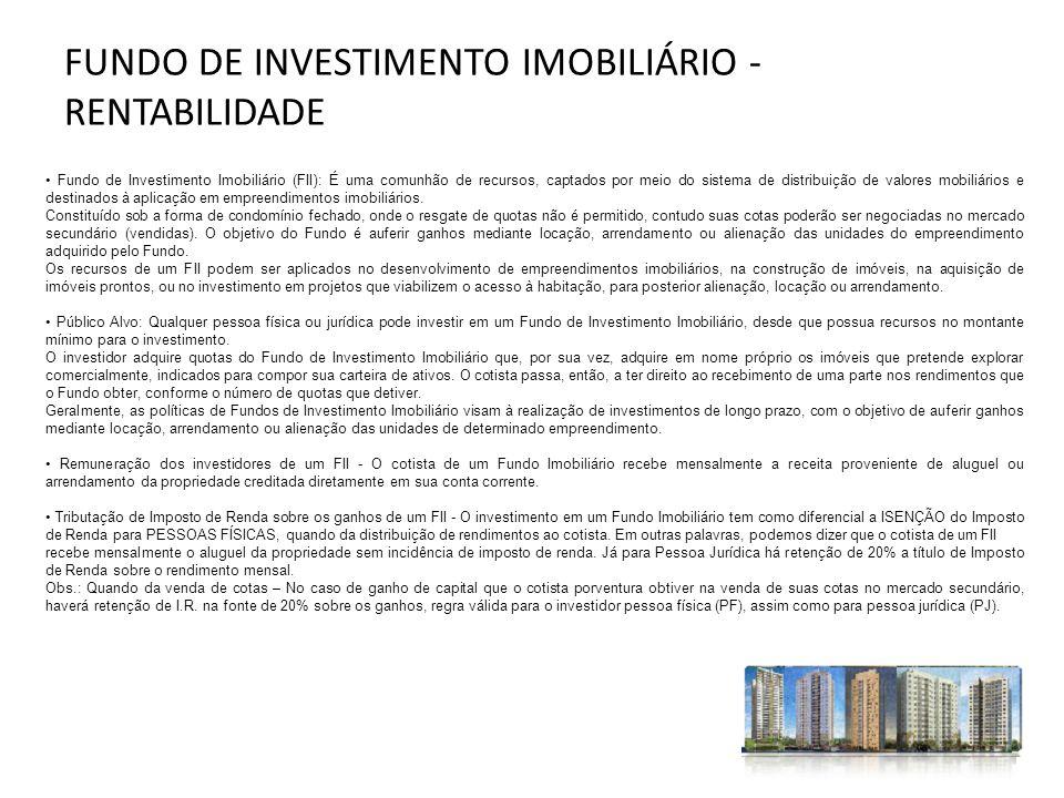 FUNDO DE INVESTIMENTO IMOBILIÁRIO - RENTABILIDADE