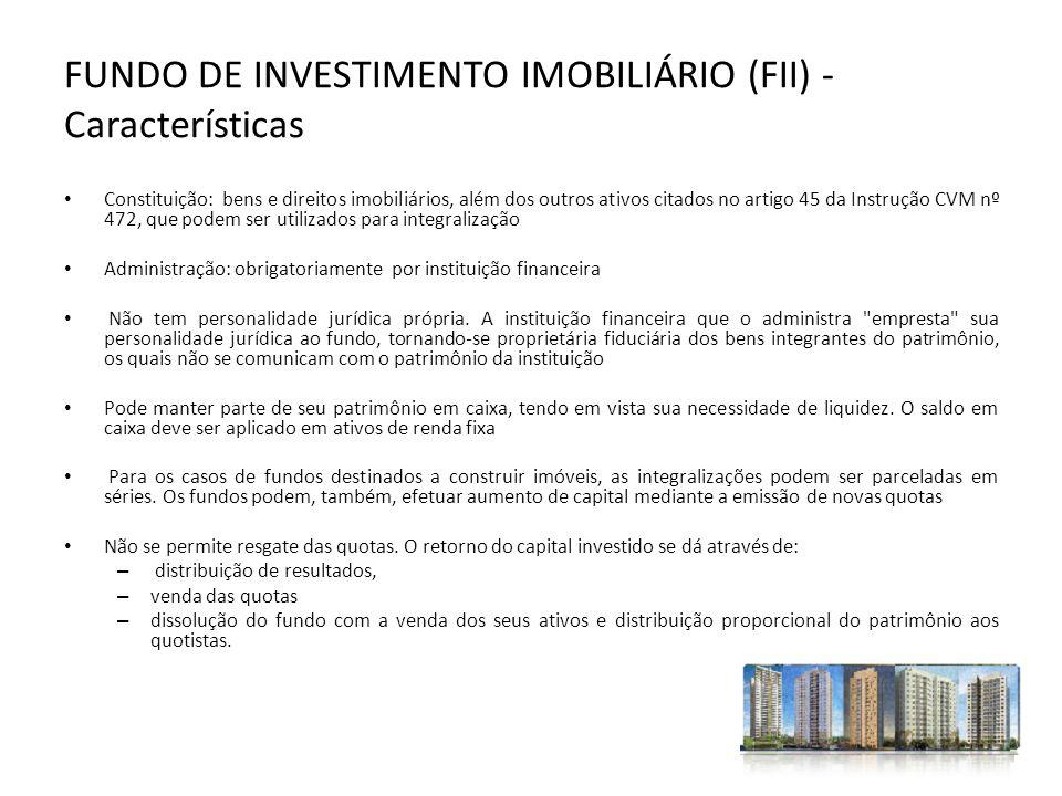 FUNDO DE INVESTIMENTO IMOBILIÁRIO (FII) - Características
