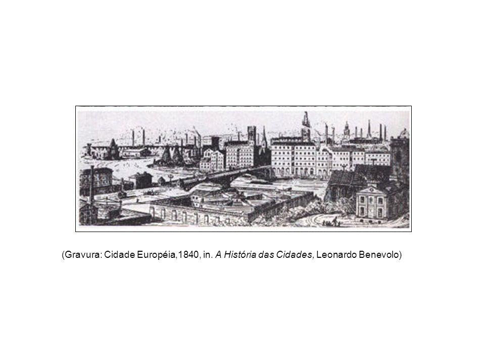 (Gravura: Cidade Européia,1840, in