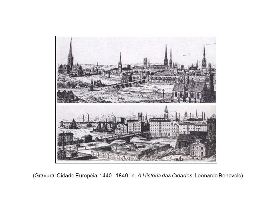 (Gravura: Cidade Européia, 1440 - 1840, in