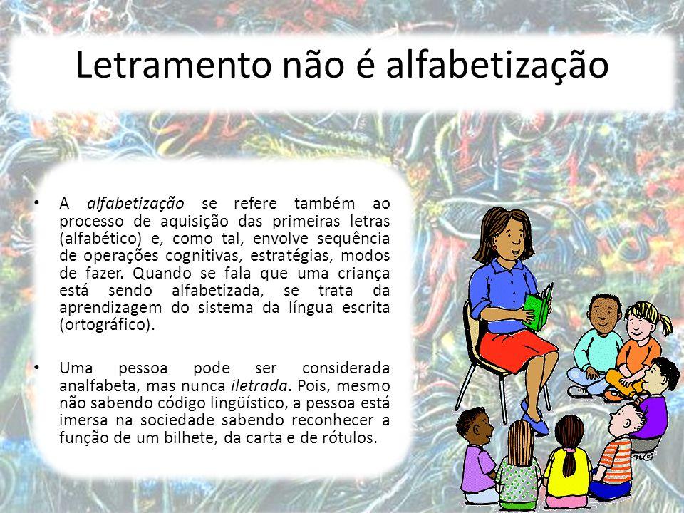 Letramento não é alfabetização