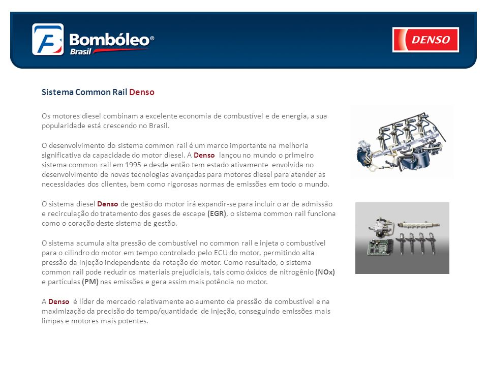 Sistema Common Rail Denso
