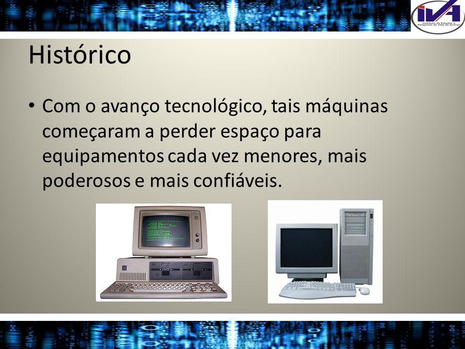 HistóricoCom o avanço tecnológico, tais máquinas começaram a perder espaço para equipamentos cada vez menores, mais poderosos e mais confiáveis.