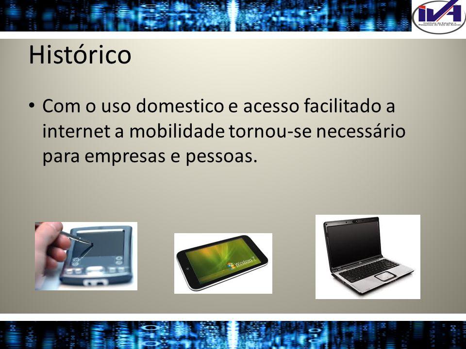 HistóricoCom o uso domestico e acesso facilitado a internet a mobilidade tornou-se necessário para empresas e pessoas.