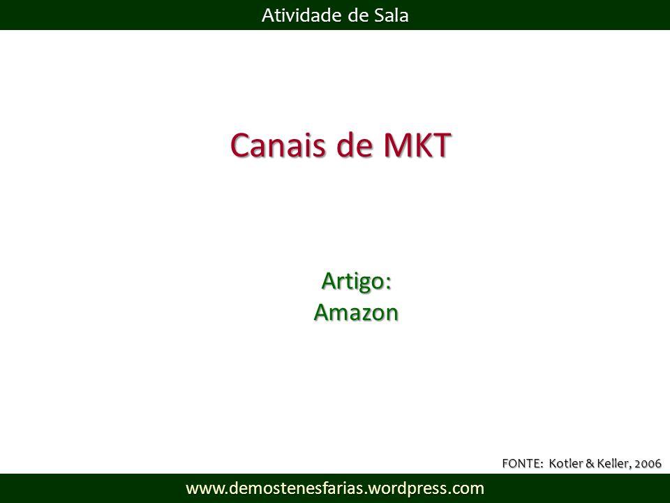 Canais de MKT Artigo: Amazon Atividade de Sala