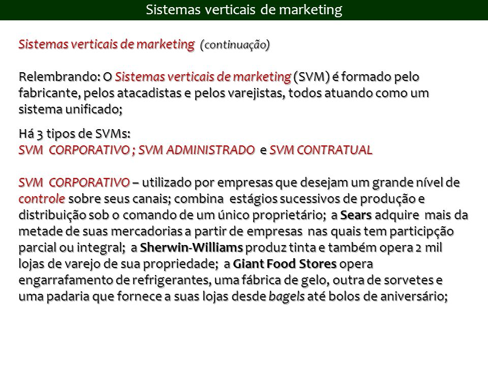 Sistemas verticais de marketing