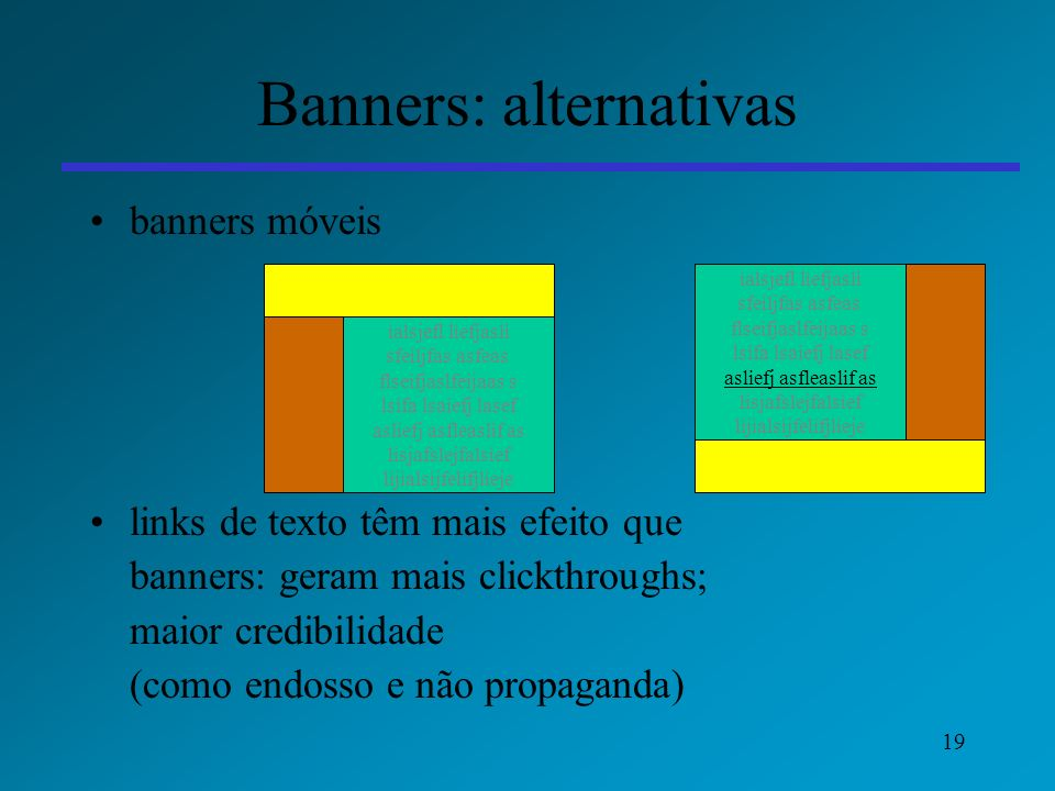 Banners: alternativas