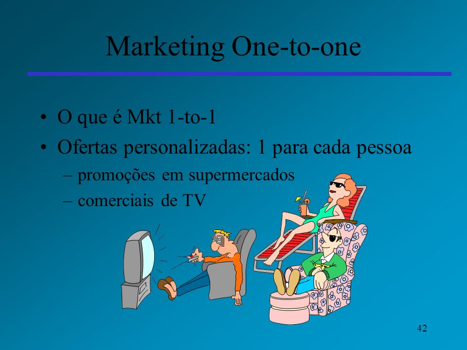 Marketing One-to-one O que é Mkt 1-to-1