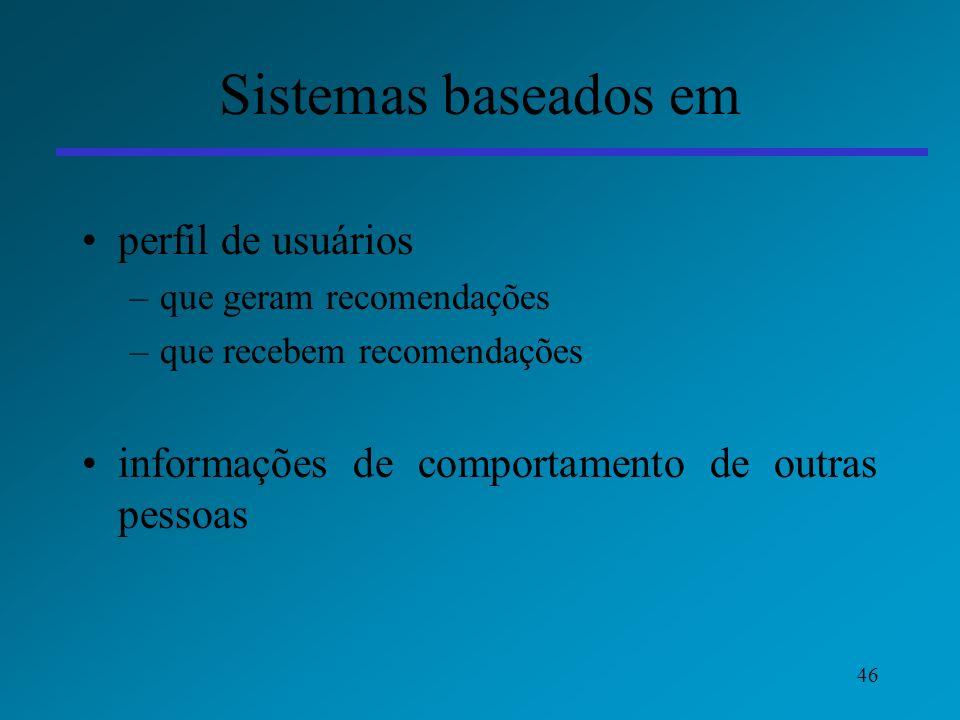 Sistemas baseados em perfil de usuários