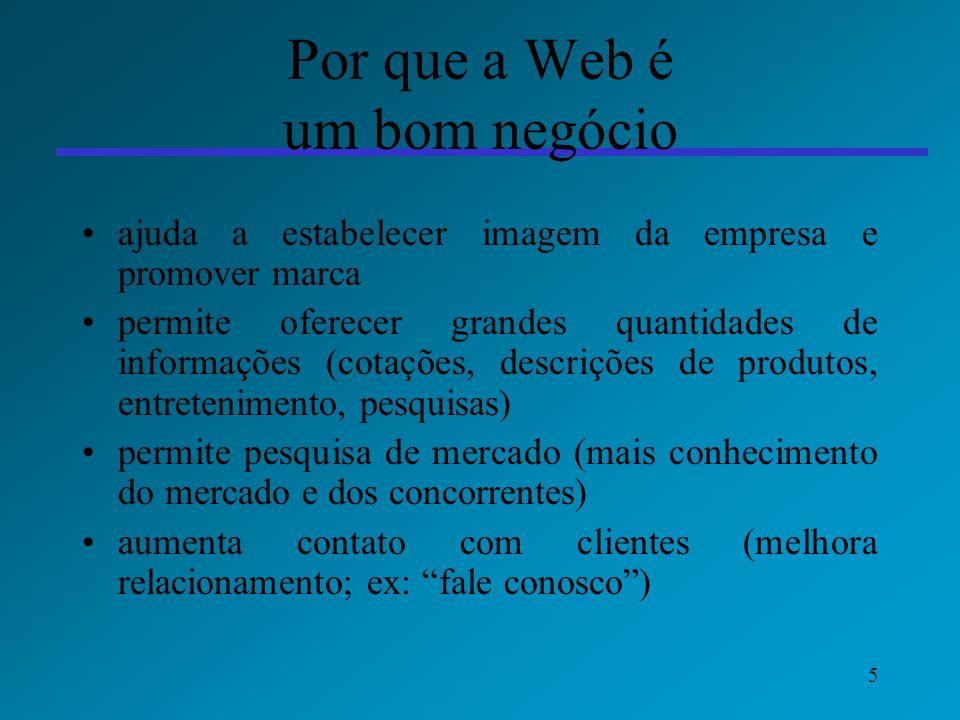 Por que a Web é um bom negócio