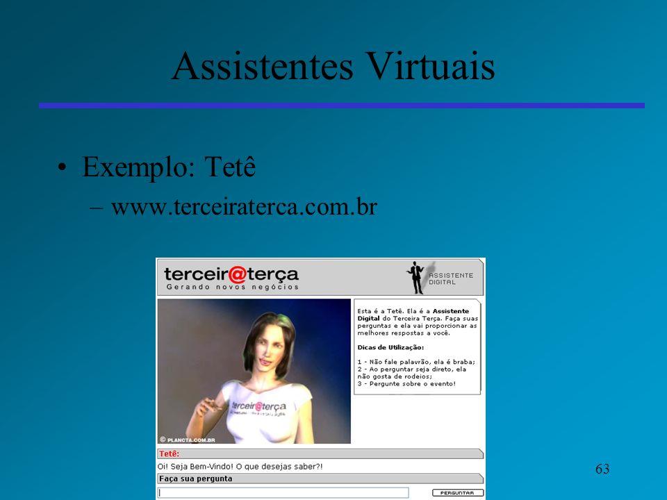 Assistentes Virtuais Exemplo: Tetê www.terceiraterca.com.br