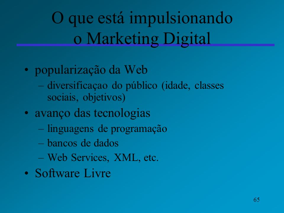 O que está impulsionando o Marketing Digital