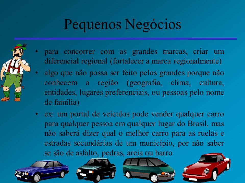 Pequenos Negócios para concorrer com as grandes marcas, criar um diferencial regional (fortalecer a marca regionalmente)