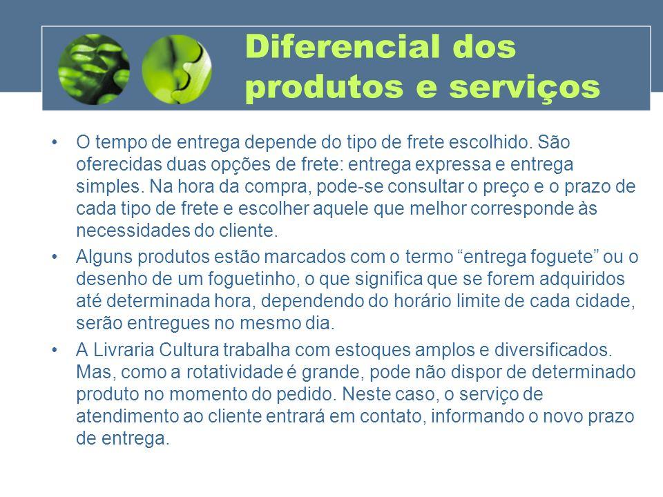 Diferencial dos produtos e serviços