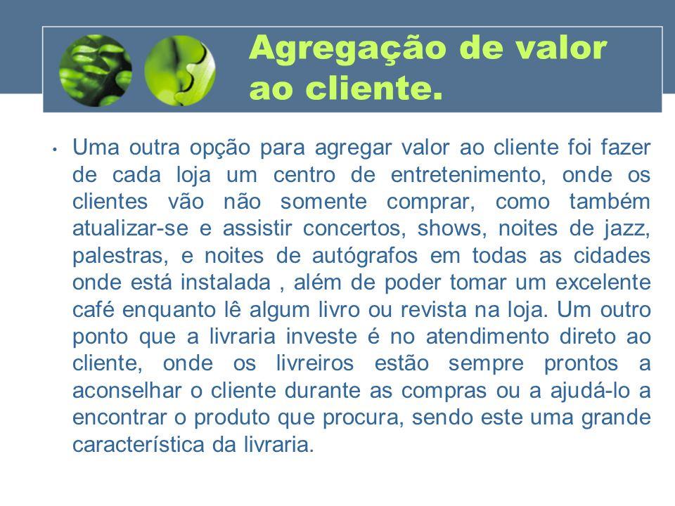 Agregação de valor ao cliente.