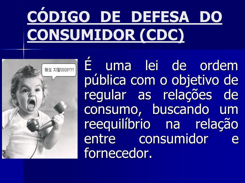 CÓDIGO DE DEFESA DO CONSUMIDOR (CDC)