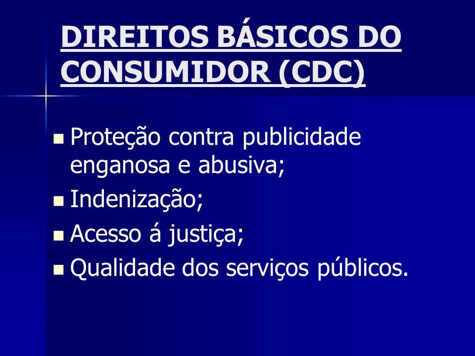 DIREITOS BÁSICOS DO CONSUMIDOR (CDC)