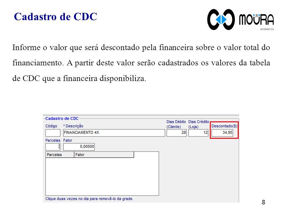 Cadastro de CDC