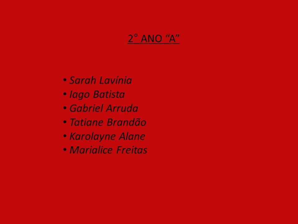 2° ANO A Sarah Lavínia. Iago Batista. Gabriel Arruda.